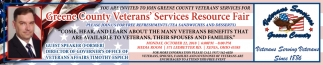 Greene County Veteran's Services Resource Fair