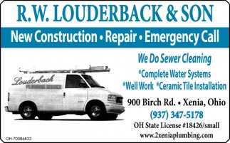 New Construction, Repair, Emergency Call