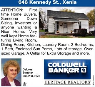 648 Kennedy St., Xenia