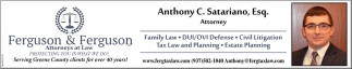 Family Law, DUI/OVI Defense, Civil Litigation, Tax Law and Planning, Estate Planning