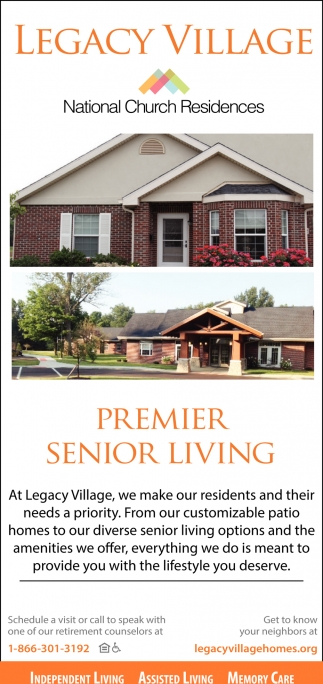 Independent Living, Assisted Living, Memory Care
