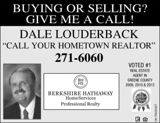 Voted 1 Real Estate Agent in Greene County