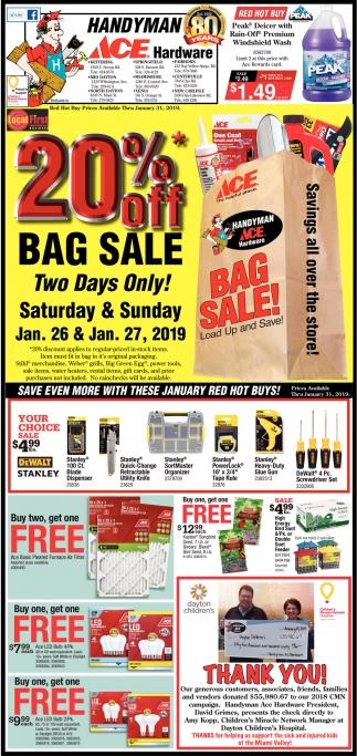 20% Off - Bag Sale