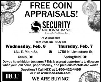 Free coin appraisals!