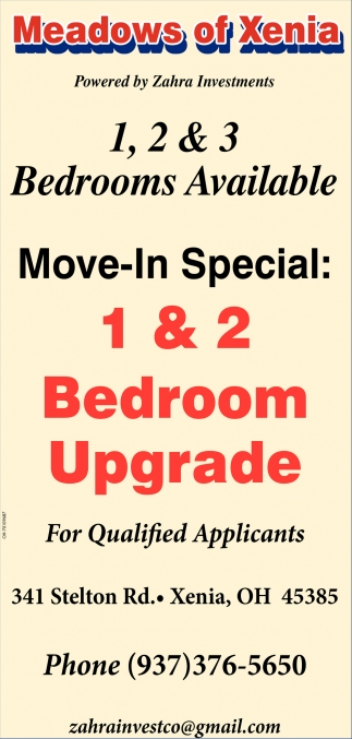 1,2 & 3 Bedrooms Available