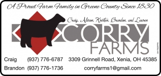 A proud farm family in Greene County since 1830