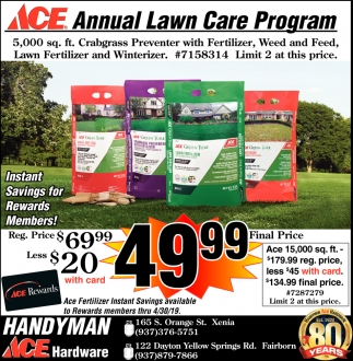 Annual Lawn Care Program