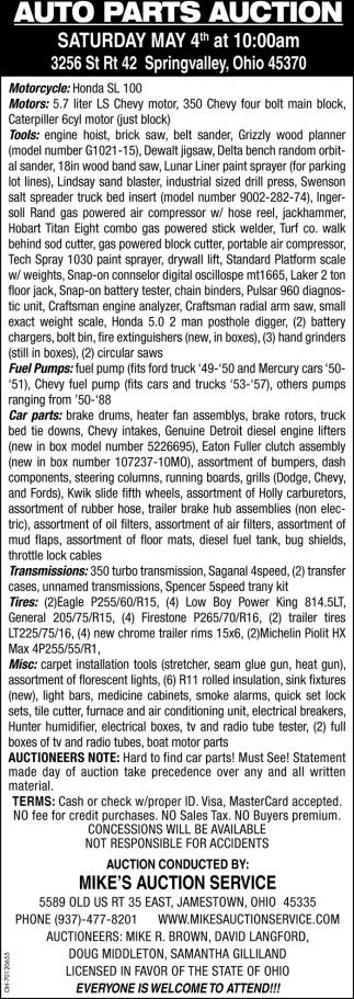 Auto Parts Auction