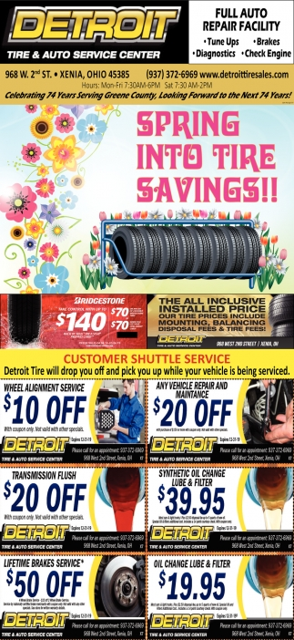 Spring into tire savings