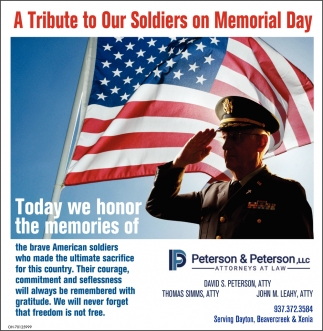 A Tribute to Our soldiers on Memorial Day