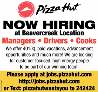 Managers - Drivers Cooks
