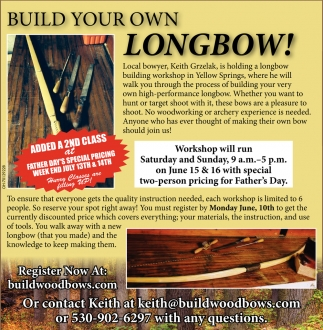 Build your own longbow!