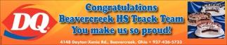 Congratulations Beavercreek HS Track Team