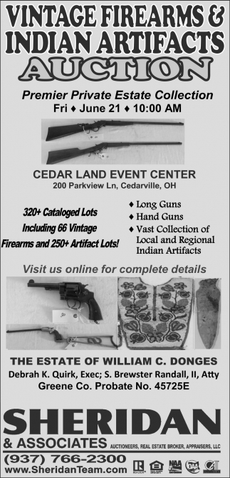 Vintage Firearms & Indian Artifacts Auction