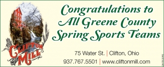 Congratulations to All Greene County Spring Sports Teams