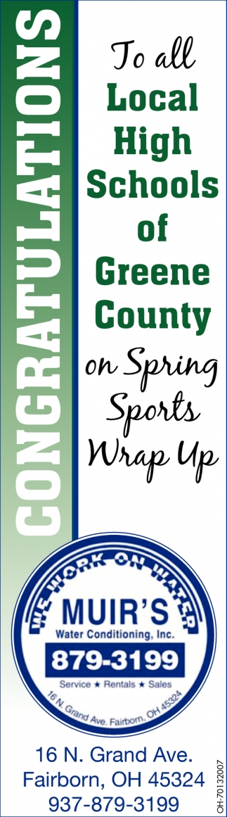 Congratulations to all Local High Schools of Greene County