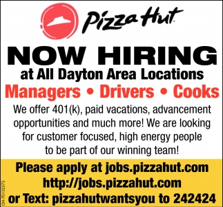 Managers - Drivers - Cooks