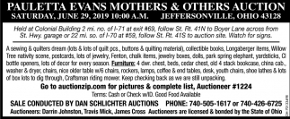Pauletta Evans Mothers & Others Auction