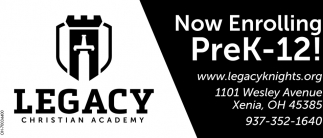 Now Enrolling PreK-12!