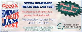 GCCOA Homemade Treats & Jam Fest