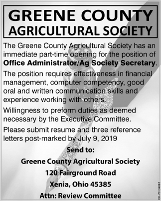 Office Administrator / Ag Society Secretary