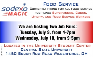 Currently Hiring For All Food Service
