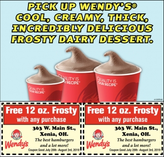 Pick Up Wendy's Cool, Creamy, Thick