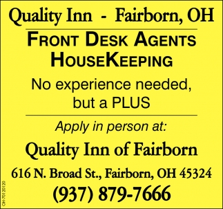 Front Desk Agentes - Housekeeping