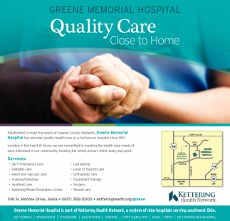 Quality Care. Close to Home