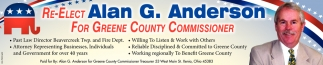 Re-Elect Alan G. Anderson for Greene County Commissioner