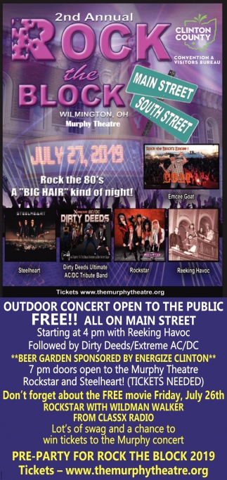 Outdoor Concert Open To The Public Free!