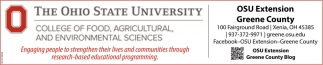 College of Food, Agricultural, and Enviromental Sciences