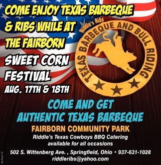 Come Enjoy Texas Barbeque & Ribs While At The Fairborn