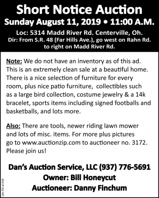 Short Notice Auction