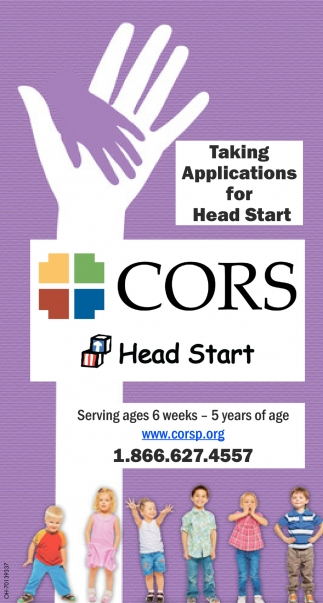 Taking Applications for Head Start