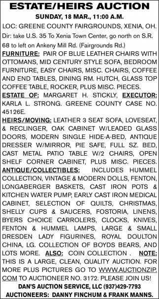 Estate/Heirs Auction