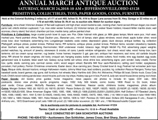 Annual March Antique Auctions