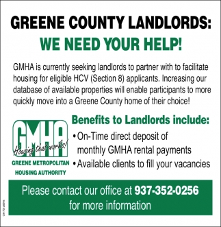 Green County Landlords - We need your help!