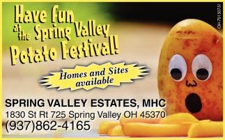Have fun at the Spring Valley Potato Festival!