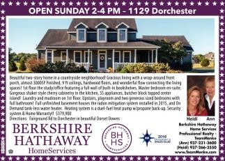 Open Sunday - 1129 Dorchester