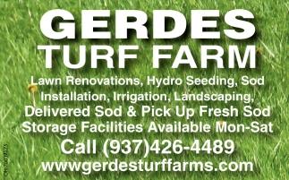 Lawn Renovations, Hydro Seeding, Sod Installation, Irrigation