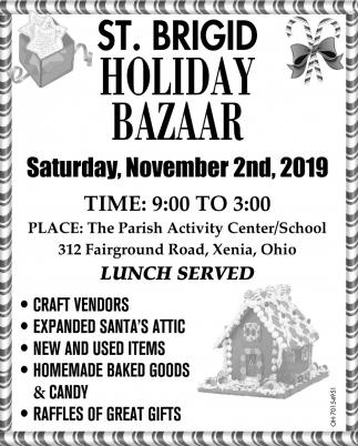 Holiday Bazaar - November 2nd