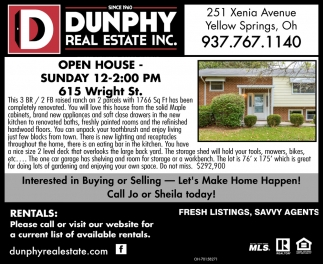 Open House - 615 Wright