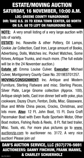 Estate/Mowing Auction - 16 November