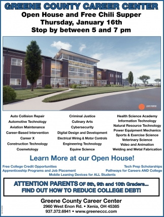 Open House and Free Chili Supper