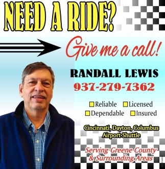 Need a Ride? - Give me a call!