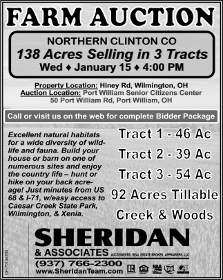Farm Auction - January 15