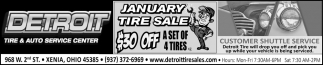 January Tire Sale - 30% Off a Set of 4 Tires