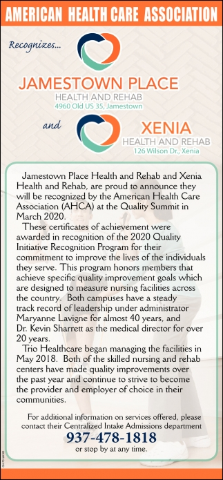 Recognizes... American Health Care Association