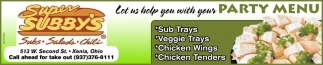 Let us help your with your Party Menu
